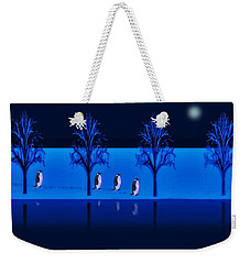 Night Walk Of The Penguins Weekender Tote Bag