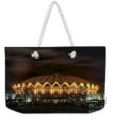 night WVU basketball Coliseum arena in Weekender Tote Bag