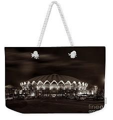 night WVU Coliseum basketball arena Weekender Tote Bag