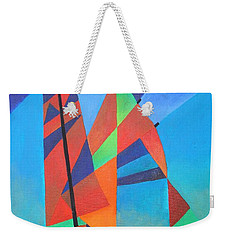 Weekender Tote Bag featuring the painting Nightboat by Tracey Harrington-Simpson