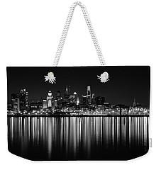 Nightfall In Philly B/w Weekender Tote Bag by Jennifer Ancker