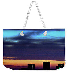 Weekender Tote Bag featuring the photograph Nightfall Over Pensacola Beach by Faith Williams