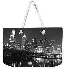 Weekender Tote Bag featuring the photograph Nighttime In Philadelphia by Alice Gipson