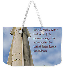 Nike Missile Thanks Weekender Tote Bag