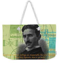 Nikola Tesla #3 Weekender Tote Bag by Jean luc Comperat