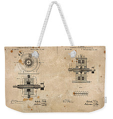 Nikola Tesla's Alternating Current Generator Patent 1891 Weekender Tote Bag