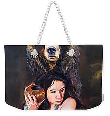 Nine Stars Woman - Bear Medicine Weekender Tote Bag by J W Baker