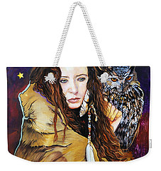 Nine Stars Woman / Owl Medicine Weekender Tote Bag