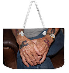 Weekender Tote Bag featuring the photograph No Age Limit by Roselynne Broussard