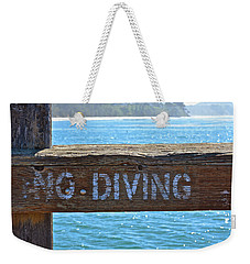 No Diving Weekender Tote Bag