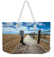 No Diving Weekender Tote Bag by Ray Warren