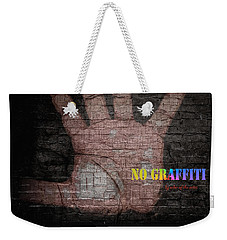 No Graffiti Weekender Tote Bag