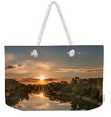 Mississippi Sunset Double Starburst Weekender Tote Bag