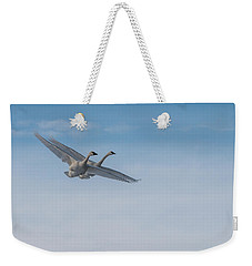Trumpeter Swans Tandem Flight Weekender Tote Bag