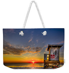 No Life Guard On Duty Weekender Tote Bag by Marvin Spates