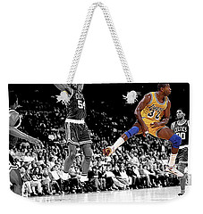 Weekender Tote Bag featuring the photograph No Look Pass by Brian Reaves