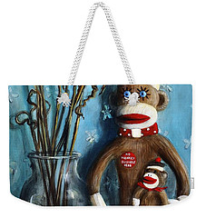No Monkey Business Here 1 Weekender Tote Bag