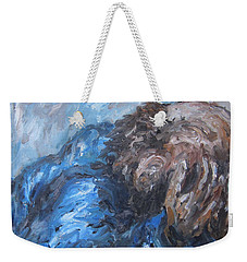 Weekender Tote Bag featuring the painting No More by Cheryl Pettigrew
