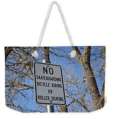No Skating Weekender Tote Bag