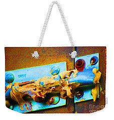 Weekender Tote Bag featuring the photograph No Trespassing by Christiane Hellner-obrien