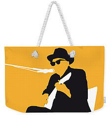 No054 My Johnny Lee Hooker Minimal Music Poster Weekender Tote Bag by Chungkong Art