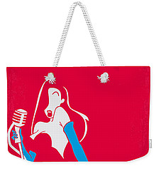 No271 My Roger Rabbit Minimal Movie Poster Weekender Tote Bag