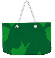 No280 My Shrek Minimal Movie Poster Weekender Tote Bag