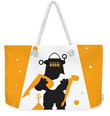 No415 My Forbidden Planet Minimal Movie Poster Weekender Tote Bag