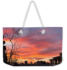 Weekender Tote Bag featuring the photograph Nob Hill Sunset by Kate Brown