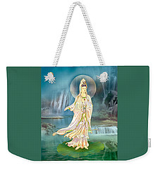 Weekender Tote Bag featuring the photograph Non-dual Kuan Yin by Lanjee Chee