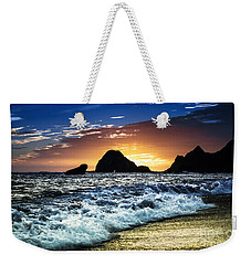 Norcal Sunset On Jenner Beach Weekender Tote Bag