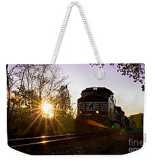 Norfolk And Southern At Sunset Weekender Tote Bag