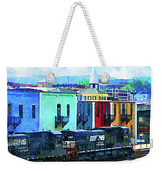 Norfolk Southern 8324 And 8676 Locomotives Weekender Tote Bag
