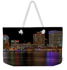 Norfolk Virginia Skyline Weekender Tote Bag