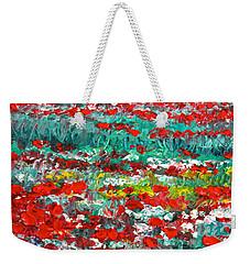 Normandy Poppy Field Dreams I Weekender Tote Bag