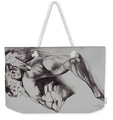 North American Minotaur Pencil Sketch Weekender Tote Bag by Derrick Higgins