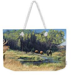 North American Waterhole Weekender Tote Bag