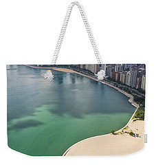 North Avenue Beach Chicago Aerial Weekender Tote Bag by Adam Romanowicz