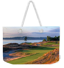 Weekender Tote Bag featuring the photograph North By Northwest - Chambers Bay Golf Course by Chris Anderson
