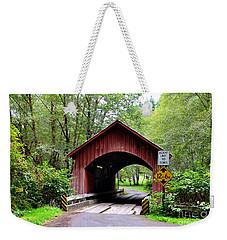 North Fork Yachats Covered Bridge Weekender Tote Bag