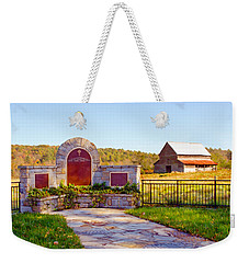 Weekender Tote Bag featuring the photograph Landscape Barn North Georgia by Vizual Studio