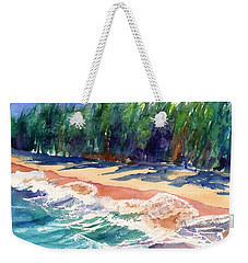 Weekender Tote Bag featuring the painting North Shore Beach 2 by Marionette Taboniar