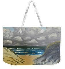 Weekender Tote Bag featuring the painting North Windang Beach by Pamela  Meredith