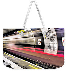 Weekender Tote Bag featuring the photograph Northbound Underground by Rona Black