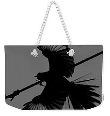 Weekender Tote Bag featuring the photograph Northern Mockingbird by Leticia Latocki
