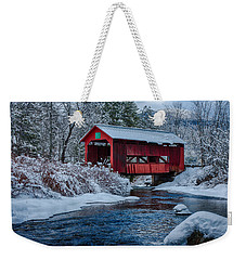 Northfield Vermont Covered Bridge Weekender Tote Bag
