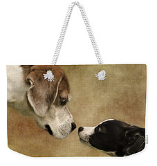 Nose To Nose Dogs Weekender Tote Bag