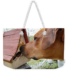 Nosey Weekender Tote Bag by Mim White