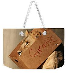 Not A Giraffe Weekender Tote Bag