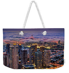 Weekender Tote Bag featuring the photograph Not Hong Kong by Ron Shoshani